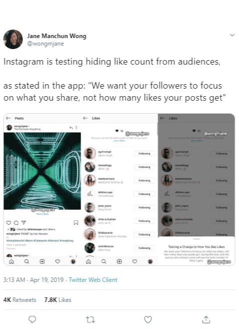 Dibalik Uji Coba Instagram Sembunyikan Fitur Likes