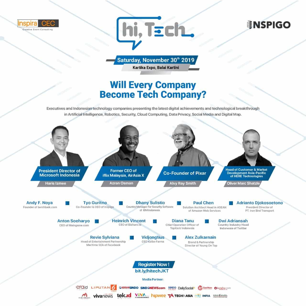 Cloud Computing, Teknologi yang Memudahkan Penyimpanan Data - HiTech Conference 2019