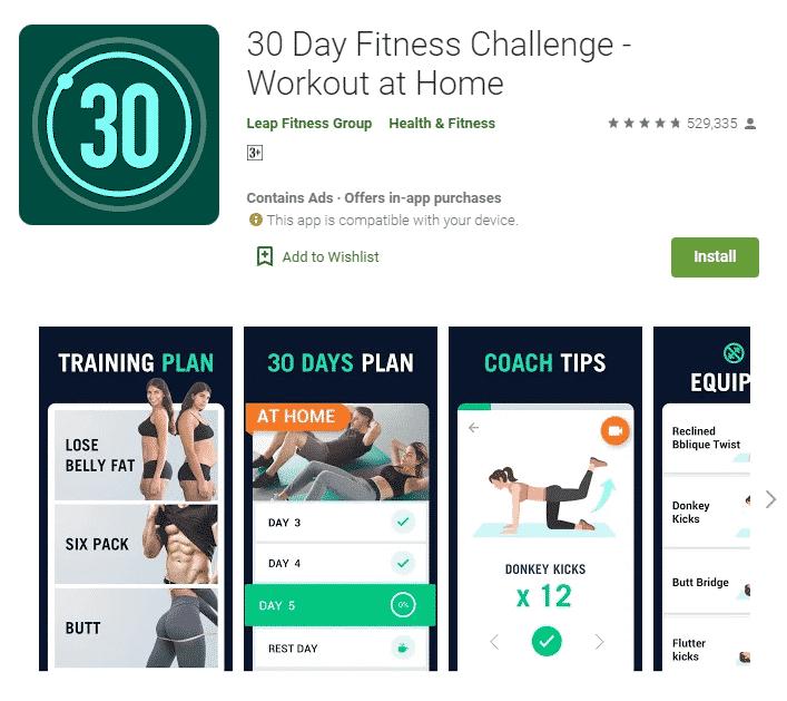 gdilab - 30 Day Fitness Challenge - Workout at Home - Rekomendasi 5 Aplikasi untuk Jaga Kesehatan